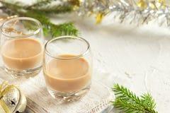 De Ierse likeur van de roomkoffie voor Kerstmis royalty-vrije stock foto