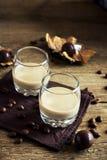 De Ierse likeur van de roomkoffie stock afbeelding