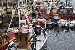 De Ierse Treilers van Vissersboten Stock Afbeelding