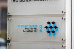 De Ig metall bouw in Berlijn Duitsland stock foto