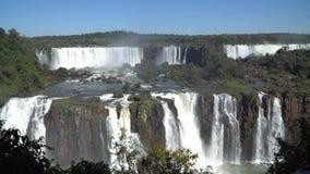De Iguazudalingen, Foz doen Iguazu, Brazilië stock videobeelden