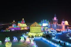 de ijs-sneeuw van Harbin wereld Stock Fotografie
