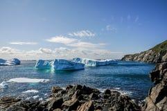2011 de Ijsbergen van Newfoundland Stock Foto