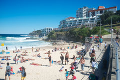 De Ijsbergenpool, Bondi-Strand, Sydney, Australië Royalty-vrije Stock Foto