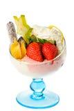 De Ijscoupe van het roomijs met Fruit Royalty-vrije Stock Fotografie