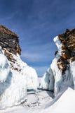 De ijskegels van Baikal Stock Fotografie