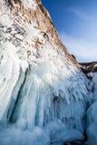 De ijskegels van Baikal Stock Afbeelding