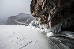 De ijskegels van Baikal Stock Afbeeldingen