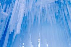 De ijskegels van ijskastelen en ijsvormingen Royalty-vrije Stock Fotografie