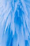 De ijskegels van ijskastelen en ijsvormingen Stock Foto's