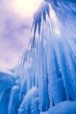 De ijskegels van ijskastelen en ijsvormingen Royalty-vrije Stock Afbeeldingen