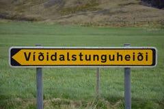 De Ijslandse stadsnamen kunnen uitdagend zijn stock fotografie