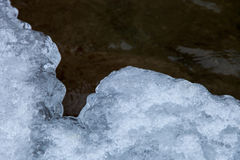 De ijsrand is behandelde sneeuw Royalty-vrije Stock Foto
