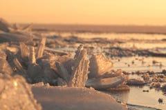 De ijsschollen van het ijs Stock Fotografie