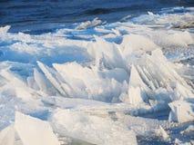 De ijsschollen van het ijs Stock Foto