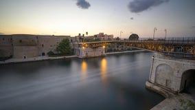 De ijzerbrug van Taranto Stock Foto
