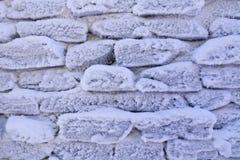 De ijzige achtergrond van de steenmuur Royalty-vrije Stock Afbeeldingen