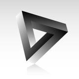 De Illusie van de driehoek Stock Afbeeldingen
