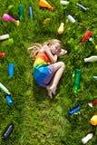 De illusie van veiligheid die - van een kleurrijke toekomst dromen Royalty-vrije Stock Afbeelding