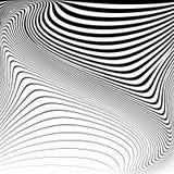 De illusieachtergrond van de ontwerp zwart-wit beweging Stock Fotografie