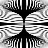 De illusieachtergrond van de ontwerp zwart-wit beweging Royalty-vrije Stock Foto