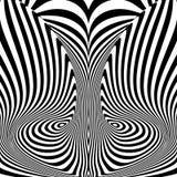 De illusieachtergrond van de ontwerp zwart-wit beweging Royalty-vrije Stock Fotografie