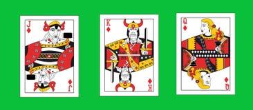 De illustratie met de speelkaarten van Viking stock illustratie