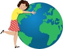 De illustratie van de aardedag royalty-vrije illustratie