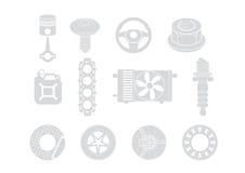 De illustratie van autodelen Royalty-vrije Stock Afbeeldingen