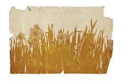 De illustratie van bloemen op oude grungeachtergrond royalty-vrije illustratie