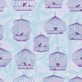 Het eenzame Naadloze Patroon van de Vogel Stock Afbeelding