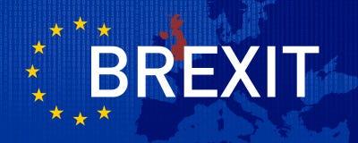 De illustratie van Brexit Groot-Brittannië verlaat de EU royalty-vrije illustratie