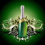 De illustratie van Champagne Royalty-vrije Stock Foto's