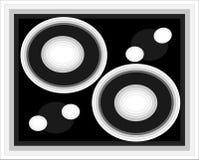 De illustratie van cirkels en van punten Royalty-vrije Stock Foto