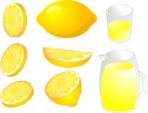 De illustratie van citroenen Royalty-vrije Stock Foto