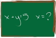 De Illustratie van de algebra Stock Afbeeldingen