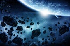 De illustratie van de Apocalyps van Eart van de planeet Stock Afbeeldingen