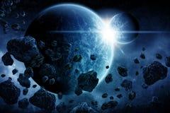 De illustratie van de Apocalyps van Eart van de planeet Stock Fotografie