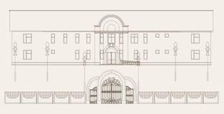 De illustratie van de architectuur Stock Foto