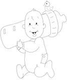 De illustratie van de baby stock illustratie