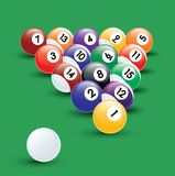 De illustratie van de Ballen van de pool Royalty-vrije Stock Afbeeldingen