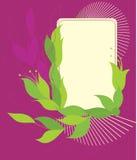 De illustratie van de banner, overladen element Stock Fotografie