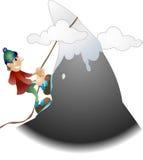 De illustratie van de bergbeklimmer stock illustratie