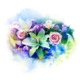 De illustratie van de bloemwaterverf Stock Foto