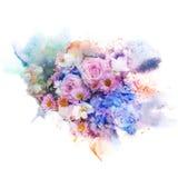 De illustratie van de bloemwaterverf Royalty-vrije Stock Foto