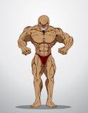 De Illustratie van de bodybuildergeschiktheid Stock Fotografie