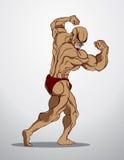 De Illustratie van de bodybuildergeschiktheid Stock Foto's