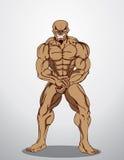 De Illustratie van de bodybuildergeschiktheid Stock Foto
