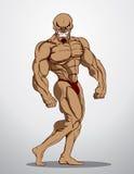 De Illustratie van de bodybuildergeschiktheid Royalty-vrije Illustratie