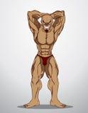 De Illustratie van de bodybuildergeschiktheid Stock Illustratie